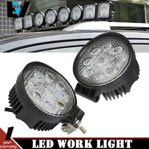 2x4 27w Led Work Light Bar Spot Truck Offroad Tractor Spot Lights 12v 24v Round