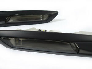 Depo Smoke Matt Black Trim Fender Side Marker Light For 2011 16 Bmw F10 5 Series