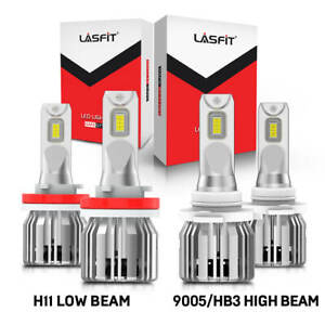 Lasfit Lc6 Series H11 9005 Combo Led Headlight Low And High Beam Bulbs Kit