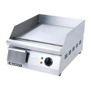 Adcraft 16 Stainless Steel Electric Griddle Kitchen Restaurant Grid 16