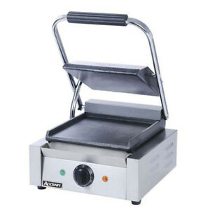 Adcraft Stainless Steel Flat Plate Panini Grill Sg 811ef
