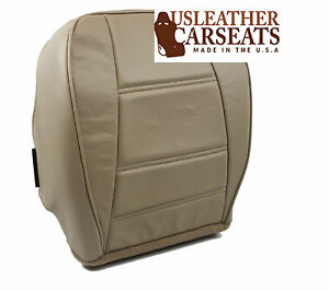 2001 2002 Ford Mustang Driver Side Bottom Replacement Leather Seat Cover Tan