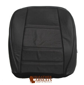 2003 Ford Mustang V6 Driver Side Bottom Replacement Leather Seat Cover Black