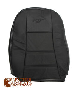 1999 2000 2001 2002 2003 Ford Mustang Driver Lean Back Leather Seat Cover Black