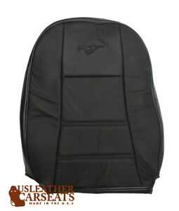 2003 Ford Mustang V6 Driver Side Lean Back Replacement Leather Seat Cover Black