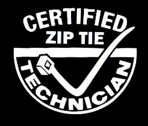 Certified Zip Tie Technician Sticker Decal Vinyl Jdm Euro Truck Car Window Funny