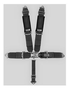Crow Safety 3 X 3 Harness Sewn In Pads 5 Point Clip In Blk From Radke 11044p
