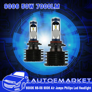2x 5s 9006 Hb4 Car Led Headlight Kit 50w 7000lm 6000k Bulbs Hid White Beam