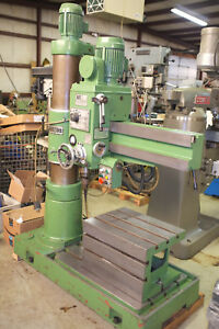 Sy Radial Arm Drill Model Sy 860ds 9 Coulm 3 Arm New 1988 Nice Condition