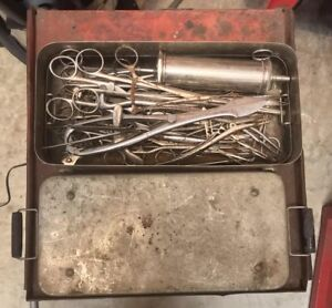 Vintage Surgical Tools Large Lot Medical Instruments Stainless Steel