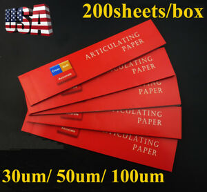 200 Sheets Dental Articulating Paper Soft Thin Strips Sheet Accurate Easyinsmile