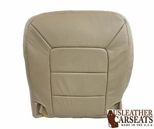 1999 Ford F350 Driver Bottom Lean Back Passenger Bottom Leather Seatcover Tan