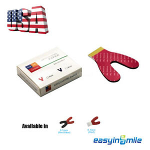 100u Easyinsmile Dental Articulating Paper Horseshoe Blue red red Thick Accurate