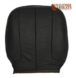 2004 Dodge Ram Driver Side Lean Back Synthetic Leather Seat Cover Dark Gray