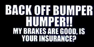 Back Off Bumper Humper Decal Vinyl Sticker Jdm Shocker Toyota Funny Car Window