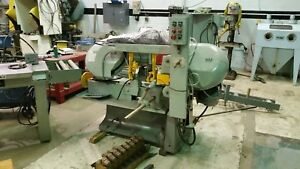 Wells 1200 Horizontal Band Saw And Auto Feed Conveyor