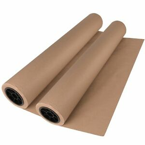 2 Pack Brown Kraft Paper Roll 30 X 1800 150ft Crafts Gift Wrapping Packing