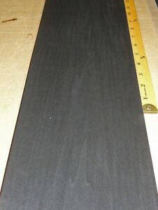 Dyed Black Poplar Wood Veneer 7 X 118 Raw No Backing a Grade 1 42 Thick
