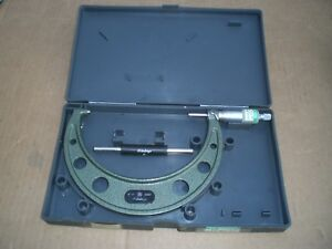 Mitutoyo 5 6 Micrometer 0001 Resolution With Plastc Case And Standard
