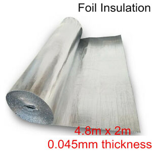 4 8x2m Double Aluminium Foil Bubble Insulation Reflective Car Radiant Barrier