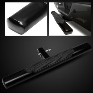 For 2 Receiver 35 4 Oval Tube Black Trailer Tow Hitch Step Bar Bumper Guard
