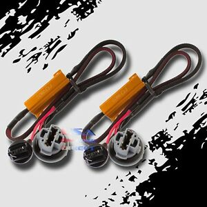 2pc Canbus Error Free Load Resistor Led Warning Light Delete Harness 7440 7443