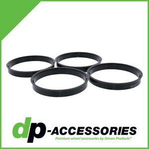 Black Polycarbonate Hub Centric Rings 78mm To 70 3mm 4 Pack