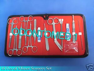 18 Pcs Minor Surgery Set Surgical Instruments Kit Stainless Steel Ds 1179