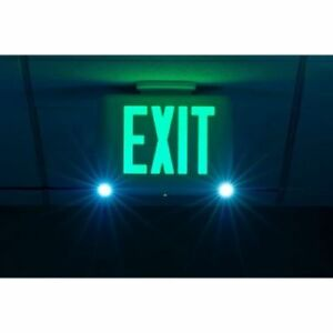 Hubbell Lighting Dual lite Exit Sign Emergency Lights Evcugwd4 Backup Light