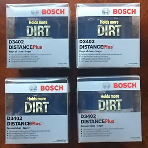 New Bosch Distance Plus Oil Filter Set Of 4 D3402 Chrysler Dodge Jeep 1973 2008