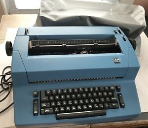 Ibm Selectric Ii Typewriter Blue Dust Cover Gothic Ball Element Needs Repair