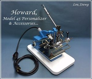 Howard Machine model 45 Personalizer Accessories Hot Foil Stamping Machine