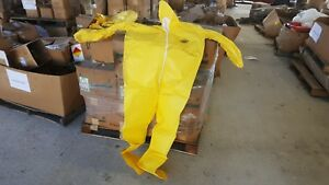 Dupont Tyvek Suits Qc122sy 05414 Surge Seam Coveralls Yellow Size 2 Xl 12 Case