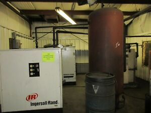 Ingersoll Rand 75 Hp Electric Air Compressor With Air Dryer And Separator Tank