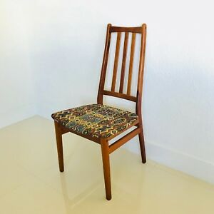 Mid Century Danish Teak Desk Chair Original Upholstery