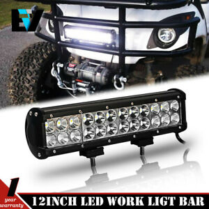 2x5inch Round Cree Led Work Light Bar Spot Offroad Fog Driving Jeep Suv 4wd 4