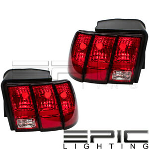 1999 2004 Ford Mustang Rear Brake Tail Lights Left Right Sides Pair