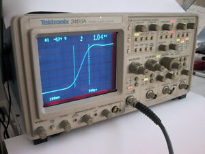 Calibrated Tektronix 2465a 350mhz Oscilloscope 1 Yr Guaranty Available Extra