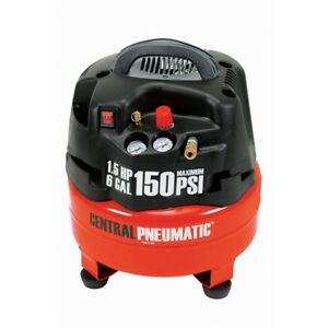 6 Gallon 1 5 Hp 150 Psi Professional Air Compressor Portable Free Fedex From Us