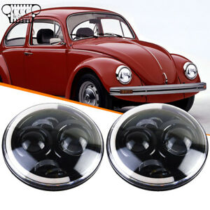 7 Inch Led Round Headlight Upgrade Hi Low Beam Fit Volkswagen Vw Beetle Classic