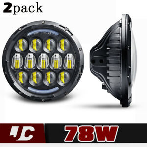 Fit Volkswagen Vw Beetle Classic 7 Inch Led Round Headlight Upgrade Hi Low Beam