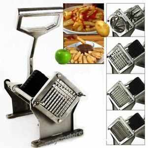 Potato French Fry Fruit Vegetable Commercial Cutter Slicer Cutting W 4 Blades B