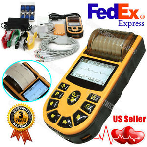 Us Digital Single Channel 12 lead Ecg ekg Machine Electrocardiograph Printer Usb