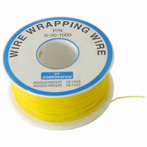 Wire Wrap Solid Kynar Wire 30 Gauge yellow 1000 Feet