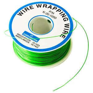 Wire Wrap Solid Kynar Wire 30 Gauge green 1000 Feet