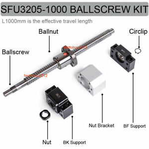 C7 Ballscrew Sfu3205 Ballnut L1000mm Ball Screw bk bf25 End Support Nut Bracket