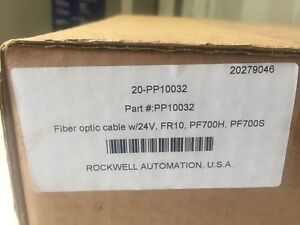 Rockwell Automation Allen bradley 20 pp10032 Fiber Optic Cable With 24v Nib