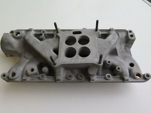 Original 1985 Ford Mustang 302 Intake Manifold With Egr Valve And Carb Spacer
