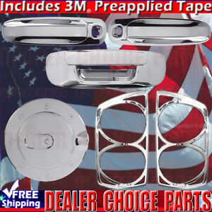 For 07 08 Dodge Ram 1500 Chrome Gas Door Handle Covers W pkh tailgate taillights