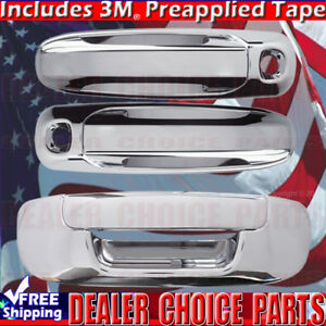 For 2002 08 Dodge Ram 1500 03 09 2500 35 Chrome Door Handle Covers W Pk Tailgate